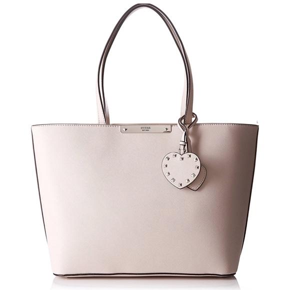 Guess Bags   Britta Tote Nude Shoulder Handbag   Poshmark ae7422a5fd